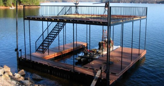 Boat Dock with Upper Deck - Project 10
