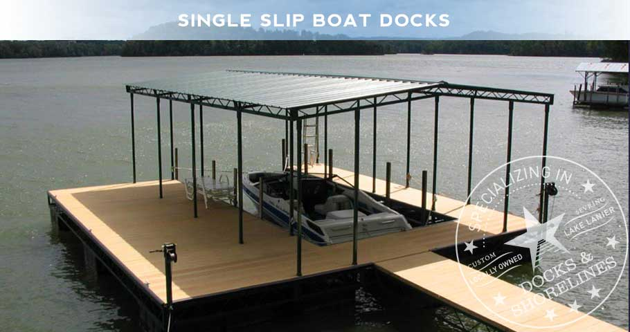 Single Slip Boat Dock 1