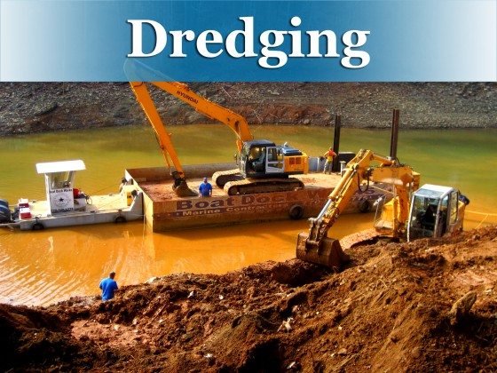 Dredging button